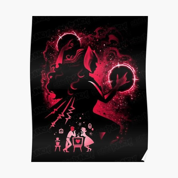 wanda red Poster RB2904product Offical WandaVision Merch
