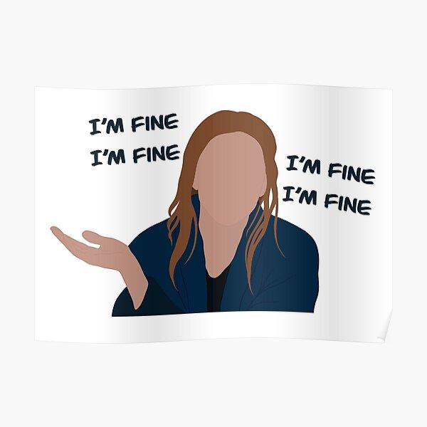 "Wanda ""I'm Fine"" Poster RB2904product Offical WandaVision Merch"