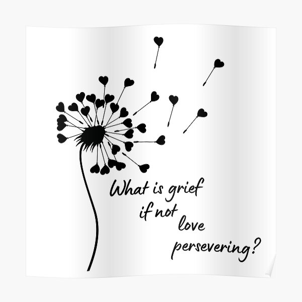 What is grief if not love persevering Poster RB2904product Offical WandaVision Merch
