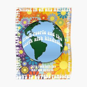 Treat people with kindness  Poster RB2904product Offical WandaVision Merch
