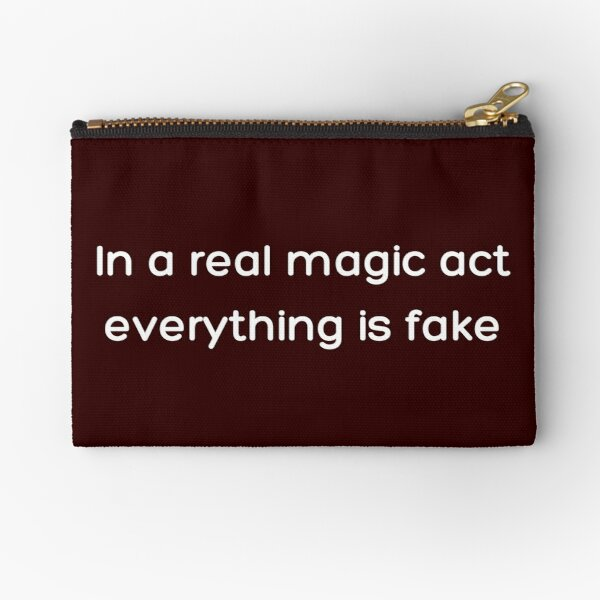 In a real magic act everything is fake _White_ Zipper Pouch RB2904product Offical WandaVision Merch