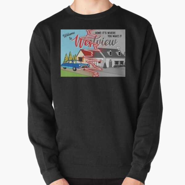 westview black and color Pullover Sweatshirt RB2904product Offical WandaVision Merch