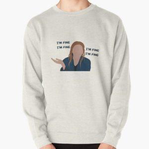 "Wanda ""I'm Fine"" Pullover Sweatshirt RB2904product Offical WandaVision Merch"