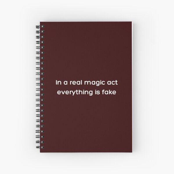In a real magic act everything is fake _White_ Spiral Notebook RB2904product Offical WandaVision Merch