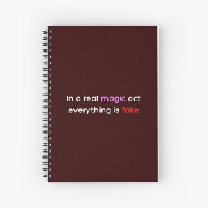 In a real magic act everything is fake _Colored_ Spiral Notebook RB2904product Offical WandaVision Merch