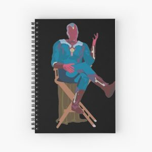 sitting vision Spiral Notebook RB2904product Offical WandaVision Merch