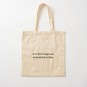 In a real magic act everything is fake _White_ Cotton Tote Bag RB2904product Offical WandaVision Merch