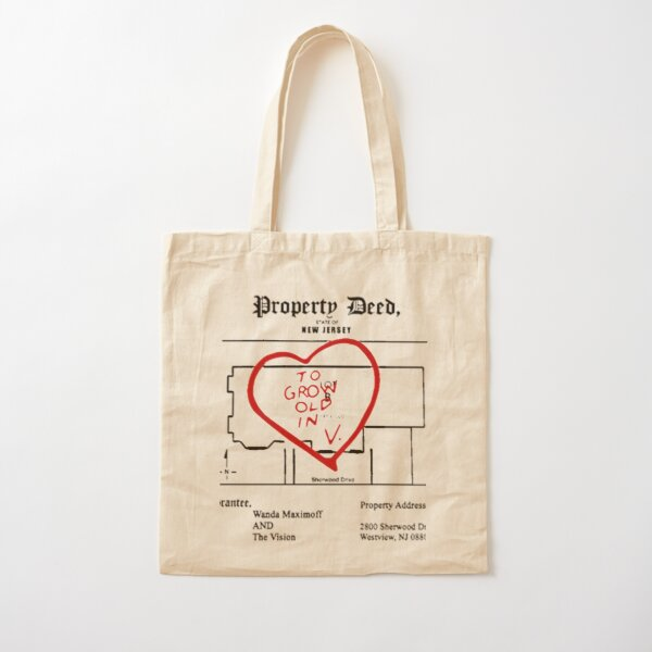 property paper Cotton Tote Bag RB2904product Offical WandaVision Merch