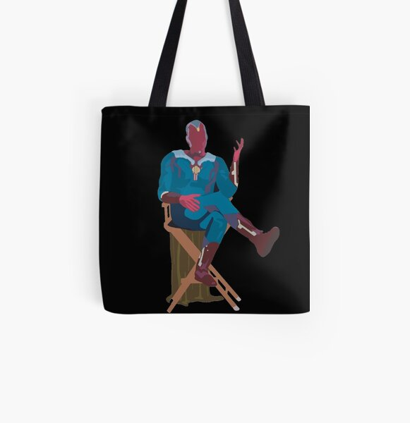 sitting vision All Over Print Tote Bag RB2904product Offical WandaVision Merch