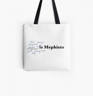 you are mephisto. i am mephisto. All Over Print Tote Bag RB2904product Offical WandaVision Merch