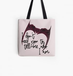 I don't need you to tell me who I am. All Over Print Tote Bag RB2904product Offical WandaVision Merch