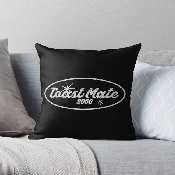 Distressed Toast Mate 2000 Logo Throw Pillow RB2904product Offical WandaVision Merch