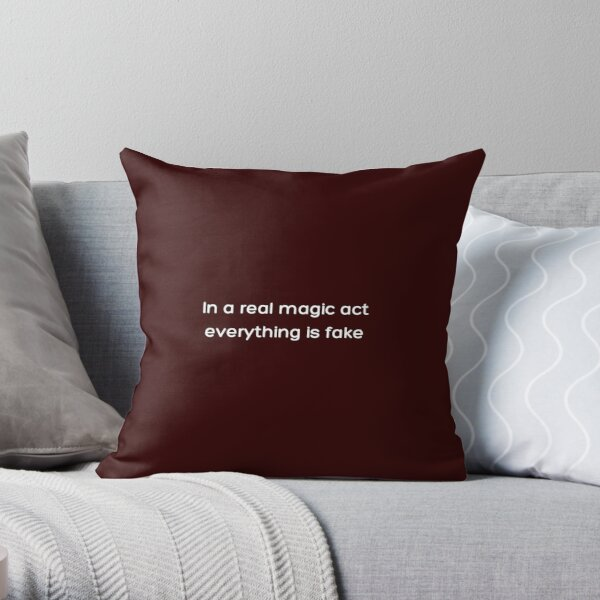 In a real magic act everything is fake _White_ Throw Pillow RB2904product Offical WandaVision Merch