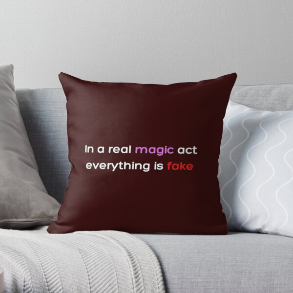 In a real magic act everything is fake _Colored_ Throw Pillow RB2904product Offical WandaVision Merch
