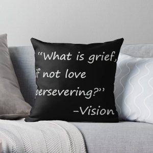 statement by vision Throw Pillow RB2904product Offical WandaVision Merch