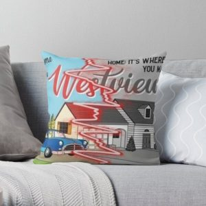 westview black and color Throw Pillow RB2904product Offical WandaVision Merch