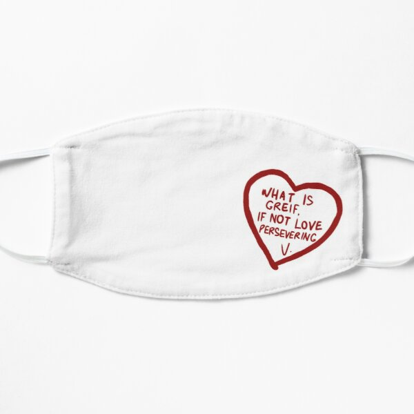 What is grief, if not love persevering Flat Mask RB2904product Offical WandaVision Merch