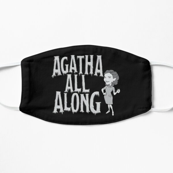 Agatha all along black and white Flat Mask RB2904product Offical WandaVision Merch
